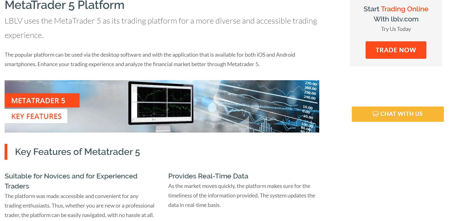 Торговая платформа LBLV писание на офицыальном сайте брокера