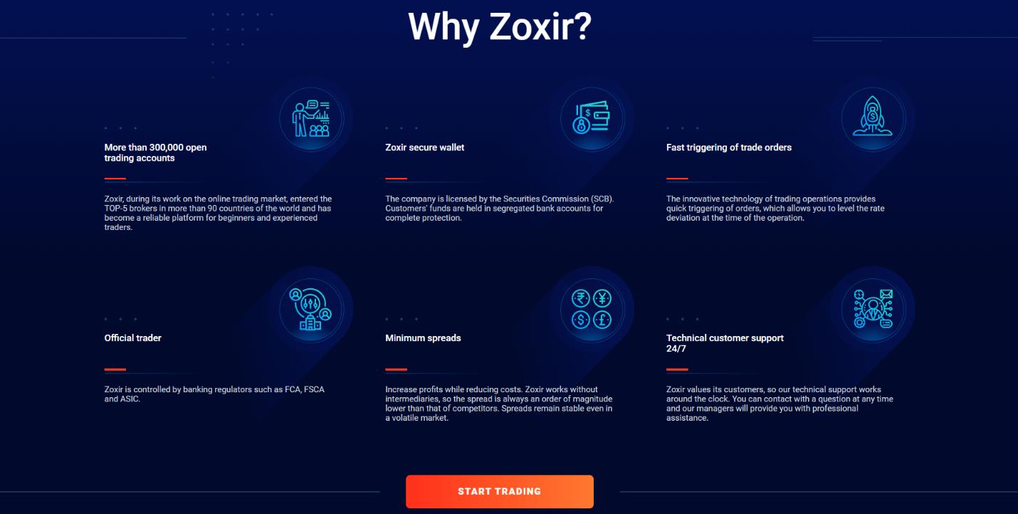Официальный сайт Zoxir