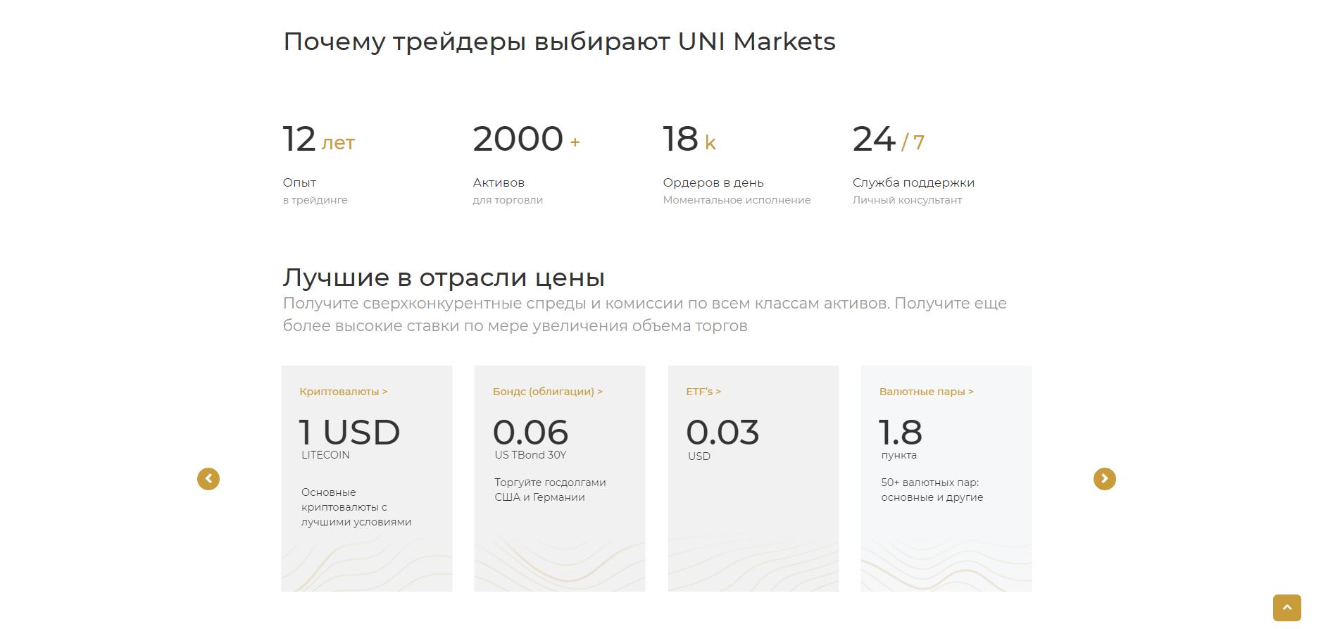 Что предлагает UNI Markets?